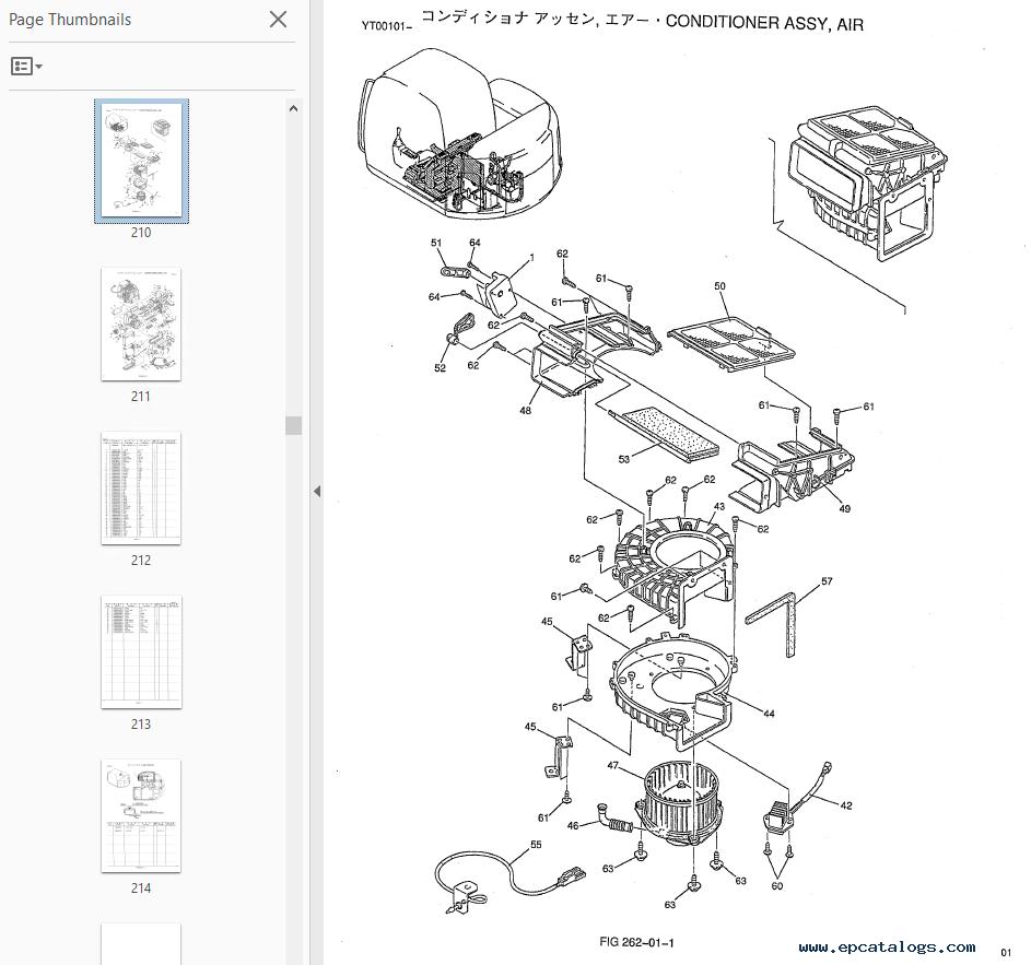 kobelco sk70sr hydraulic excavators parts catalog pdf
