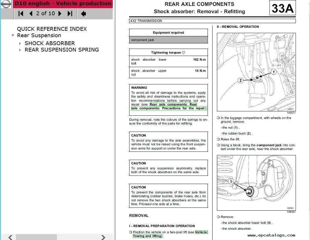 repair manual Nissan Terrano D10 Model Series Electronic Service Manual  2014MY - 2