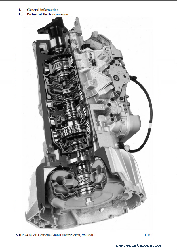 Zf 5hp24  Zf 5hp24a Repair Manual Download