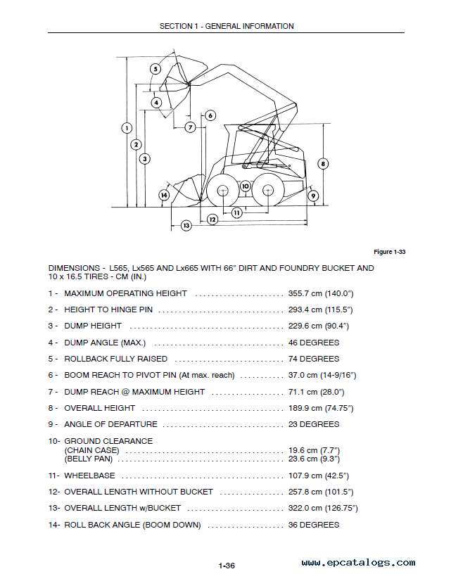 new holland l565 lx565 lx665 loader manual pdf download rh epcatalogs com LX665 Specifications 1996 New Holland LX665