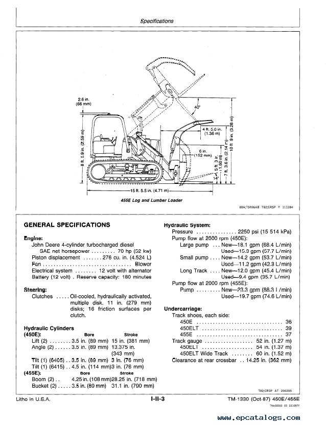 John deere 450e Service Manual