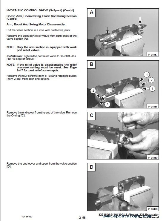 325 bobcat Manual excavator