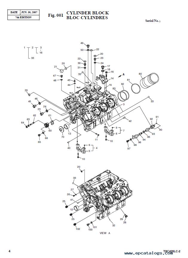 terex tx u0421 420lc 2 heavy excavator parts manual pdf download