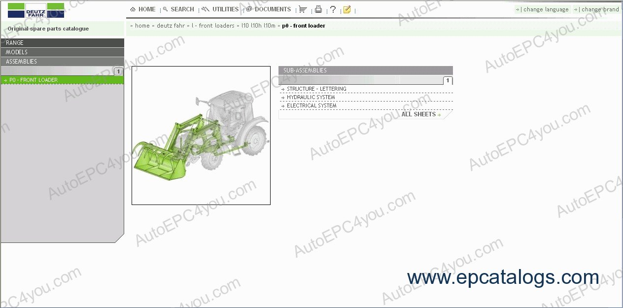 repair manual Deutz-Fahr SDF e-Parts - 4