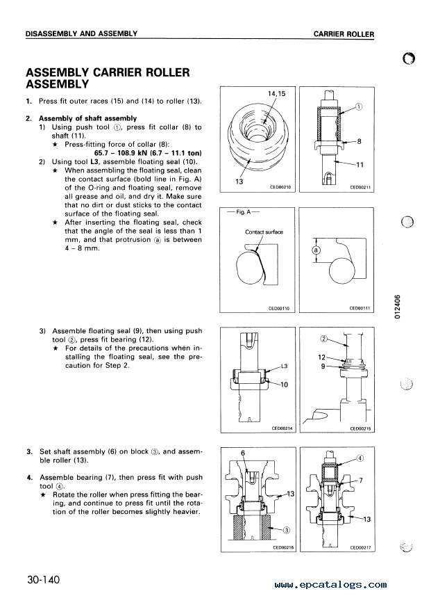 Komatsu Bulldozer D41E-6, D41P-6 Series Operation & Maintenance + Shop  Manuals PDF