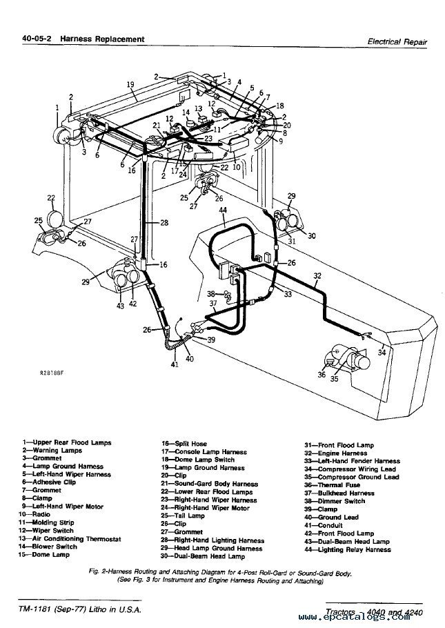 John Deere 4240 Wiring Harness | Wiring Diagram on tractor ignition switch wiring diagram, 18-wheeler truck diagram, electric brake wiring diagram, tail lights wiring diagram, tractor-trailer diagram, tractor battery wiring diagram, tractor light system, tractor electrical diagram, simplicity tractor wiring diagram, tractor light plug,