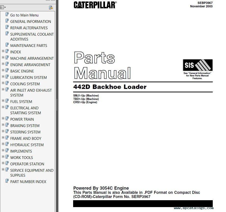 cat 420e backhoe operator manual