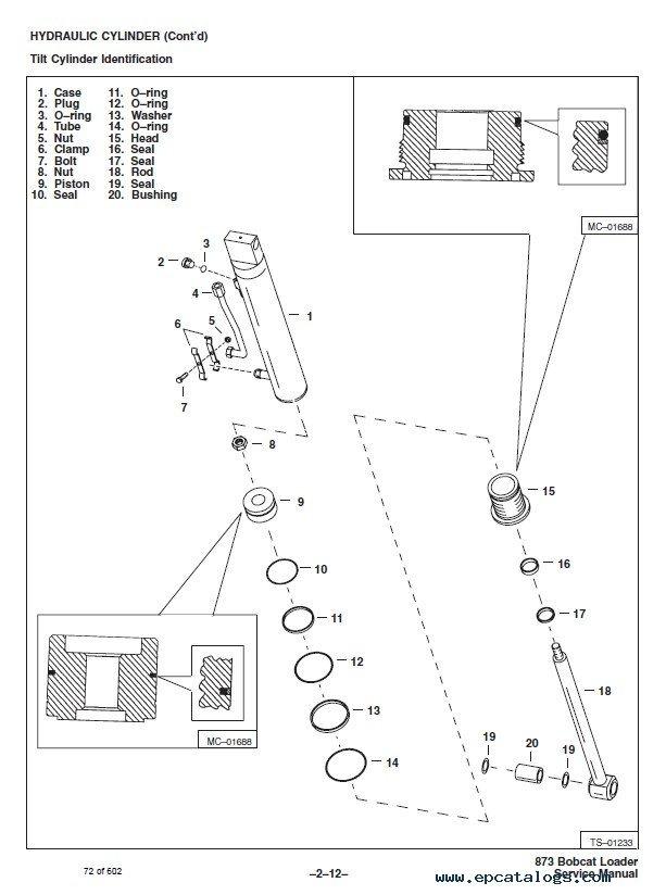 repair manual bobcat 873 skid steer loader service manual pdf - 6