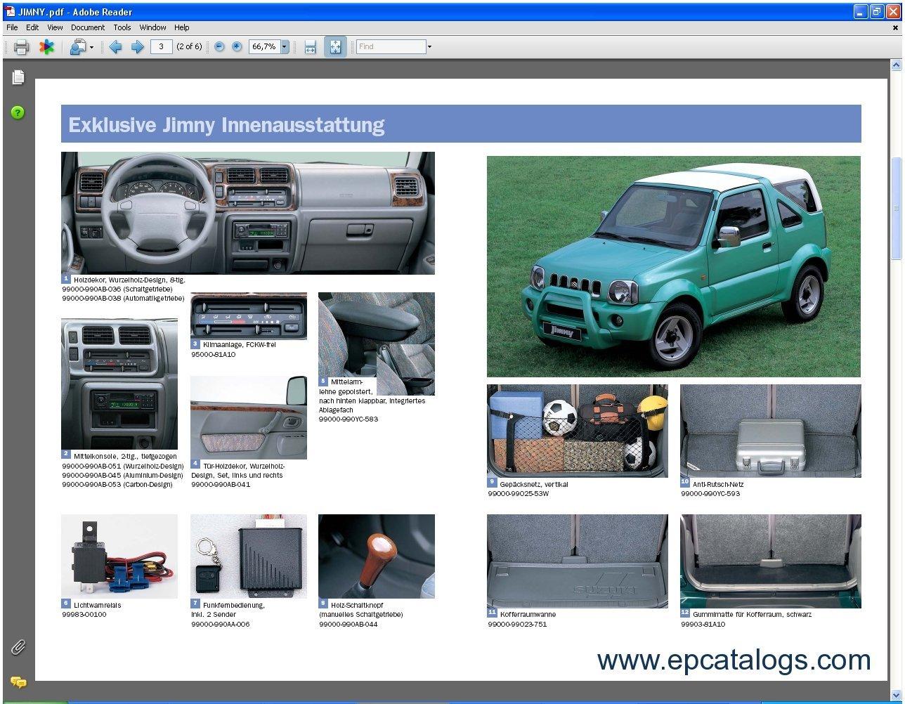 Spare Parts Catalog Suzuki Accessories