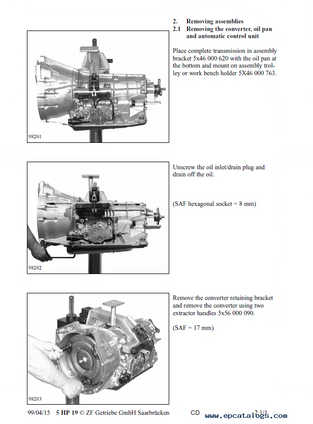 zf 5hp19 and 5hp19 fl a repair manual download rh epcatalogs com Technical Manual Clip Art 5hp19 service manual