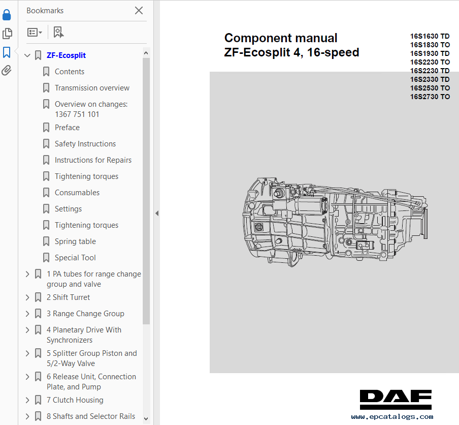 Zf 16 Speed Gearbox Manual