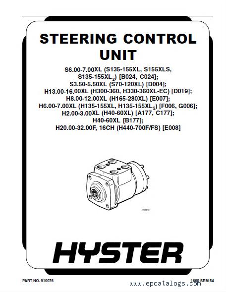 Hyster Challenger H70XL H80XL H90XL H100XL H110XL H90XLS (G5) Forklift  Service & Parts Manual PDF
