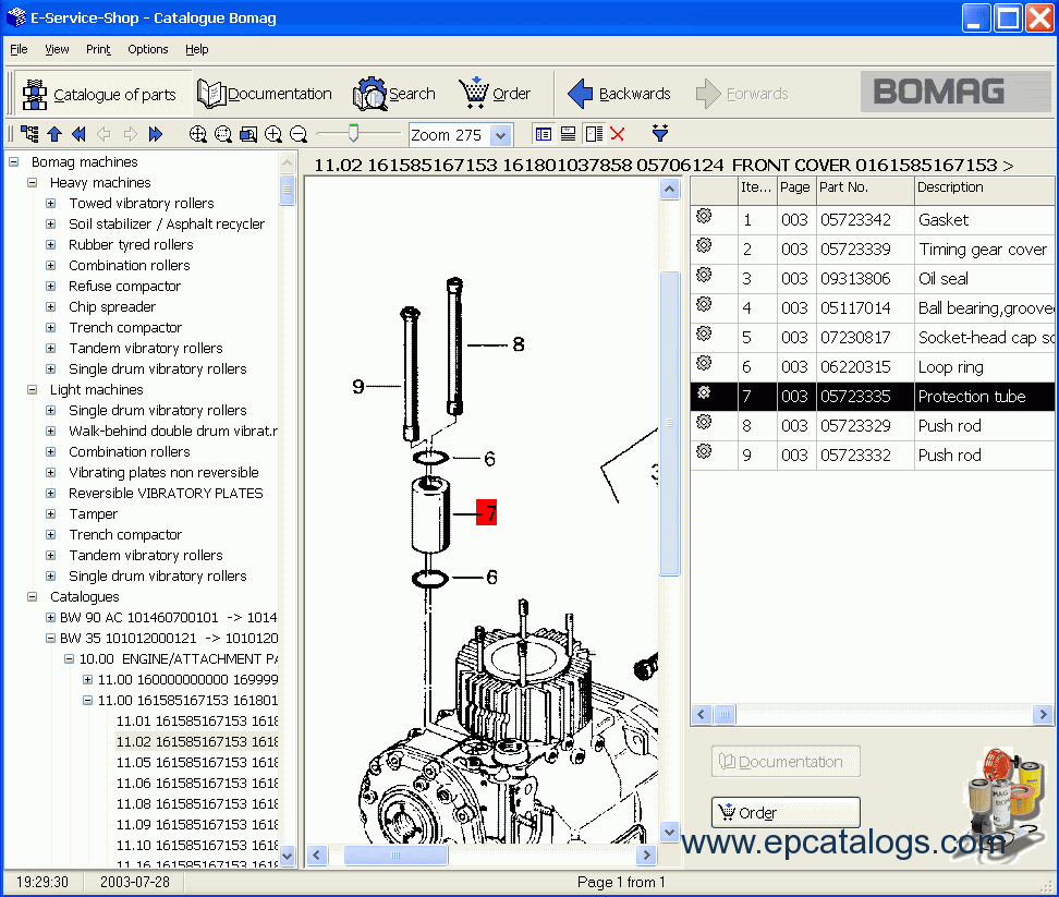spare parts catalog Bomag All Models Spare Parts Catalog 03-2007 - 2