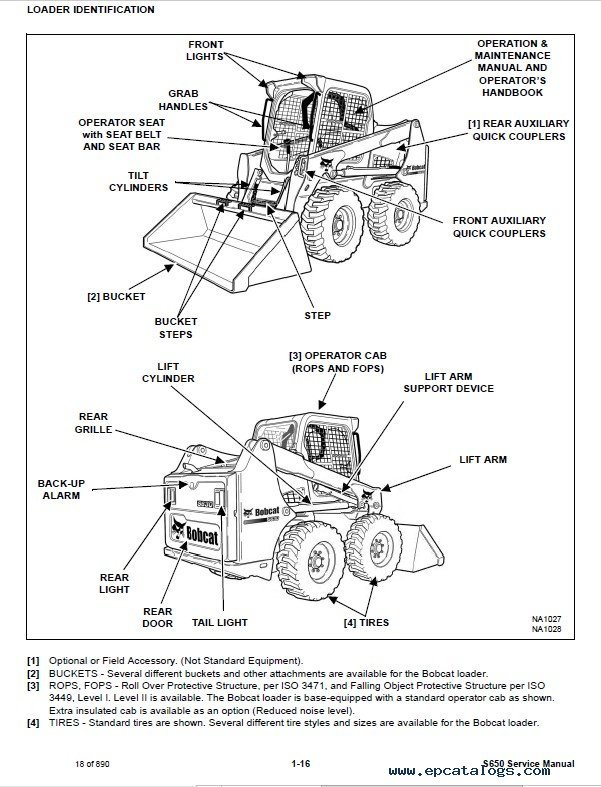 Bobcat S630 Skid-Steer Loader Service Manual PDF