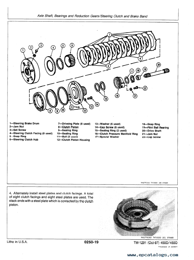 John Deere 450d 455d Crawler Bulldozer  Loader Tm1291 Pdf
