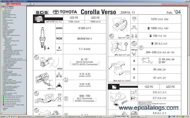 toyota rav4 wiring diagram toyota verso 2004-2005 repair manual download