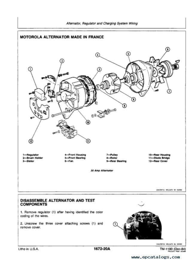 Motorola Alternator Wiring Diagram John Deere - All Diagram ... on