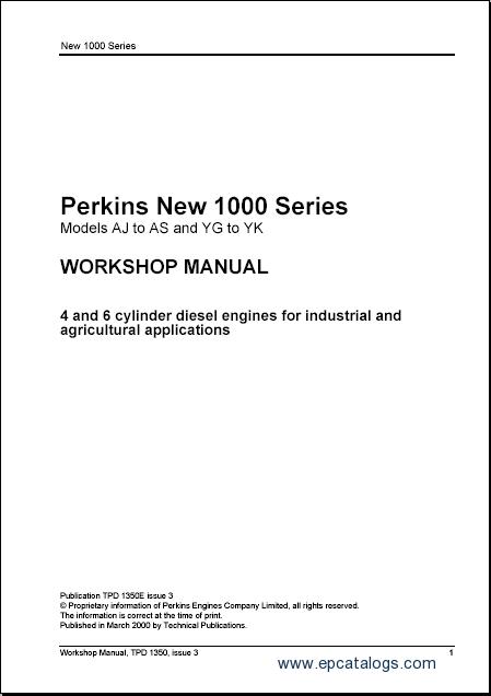 Perkins New 1000 Series  Repair Manual  Heavy Technics
