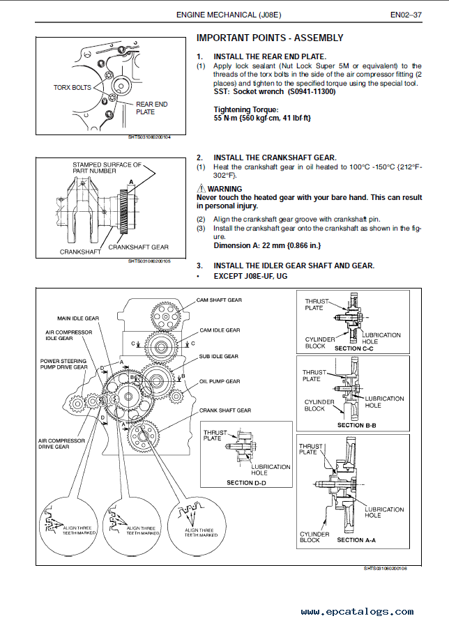hino j08e ti engine workshop manual pdf rh epcatalogs com Hino Engine with Ford Hino 195 AC Diagram