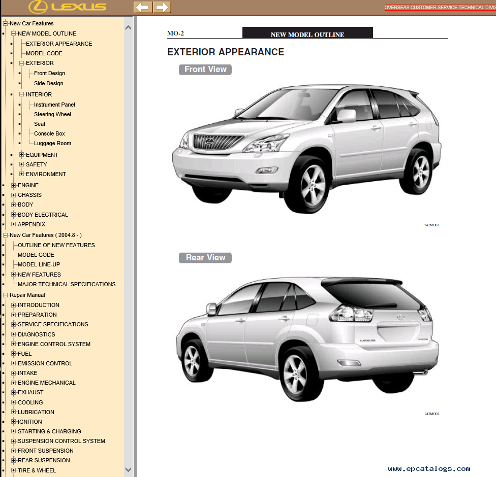 lexus rx350 rx330 rx300 pdf workshop manual pdf download rh epcatalogs com 2001 lexus rx 300 user manual lexus rx300 owners manual pdf