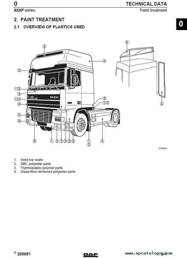 daf 95xf series truck service repair workshop manual pdf