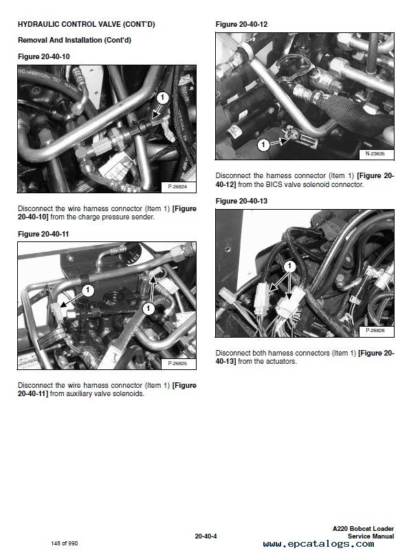 Bobcat A220 Turbo, A220 Turbo High Flow Skid Steer Loader Service Manual PDF