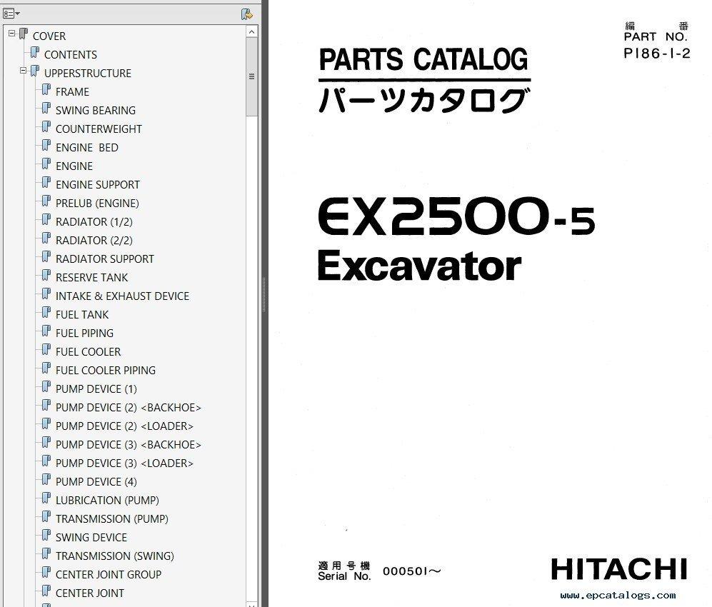 repair manual Hitachi EX2500 & EX2500-5 Excavator Set of PDF Manuals - 7