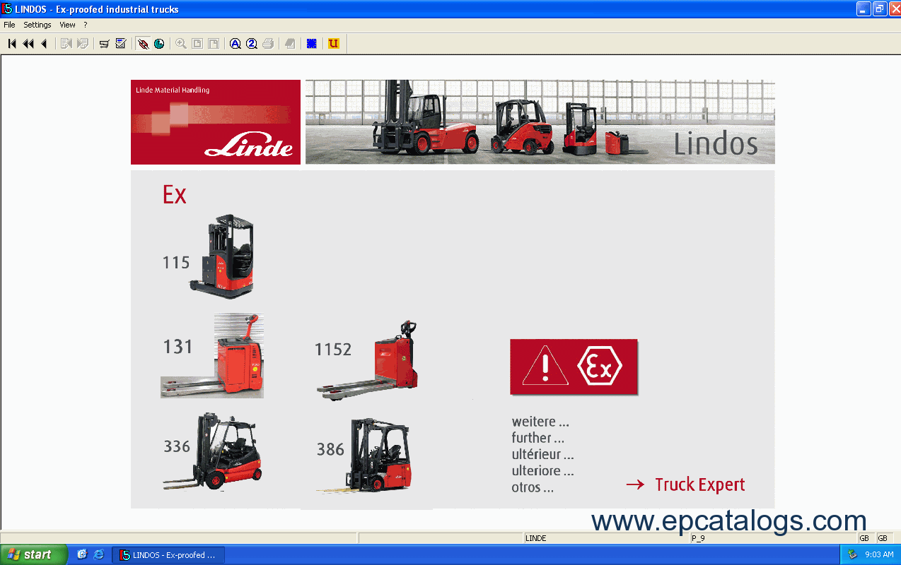 spare parts catalog Linde Fork Lift Truck 2014 Parts Manual - 8