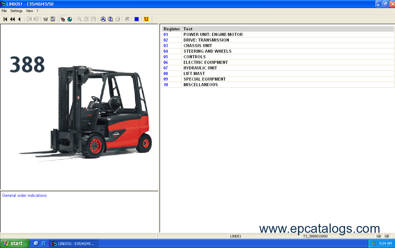Linde Fork Lift Truck 2014 Parts Manual Download