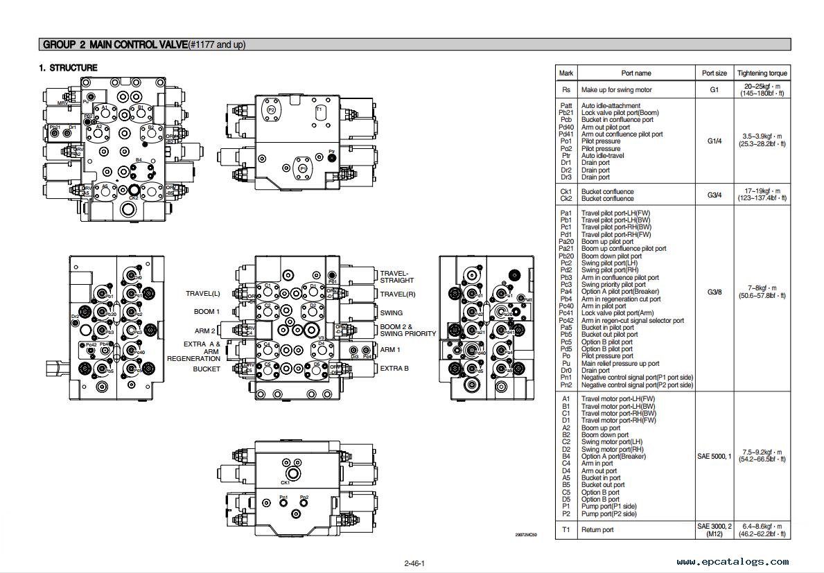repair manual Hyundai R290LC-7 Crawler Excavator Service Manual - 2