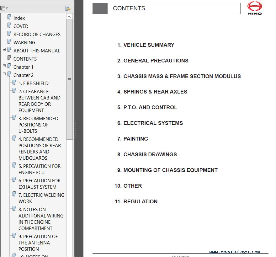 hino 258 wiring diagram hino box truck schematic wiring