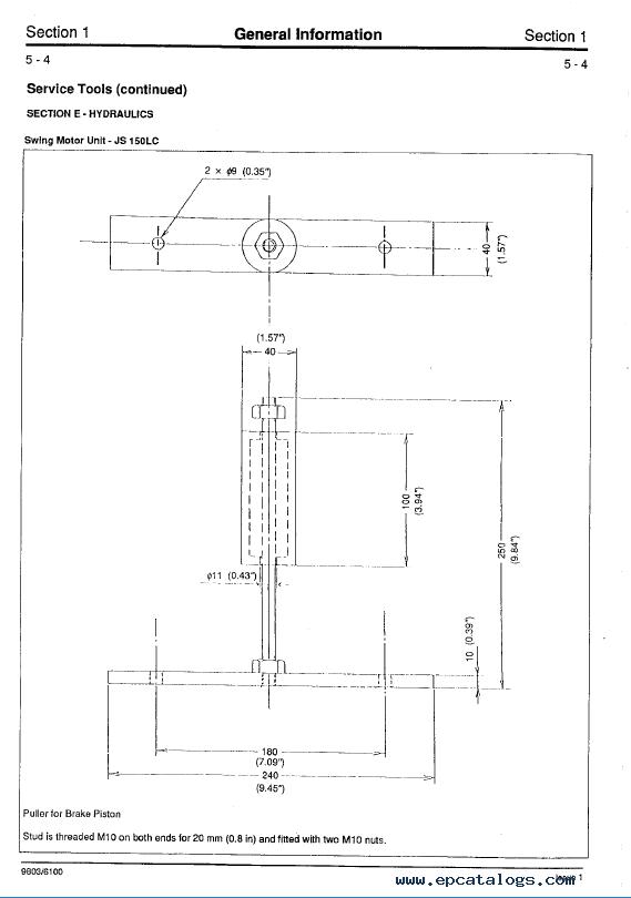 Download Jcb Js110  130  150lc Excavator Service Manual Pdf