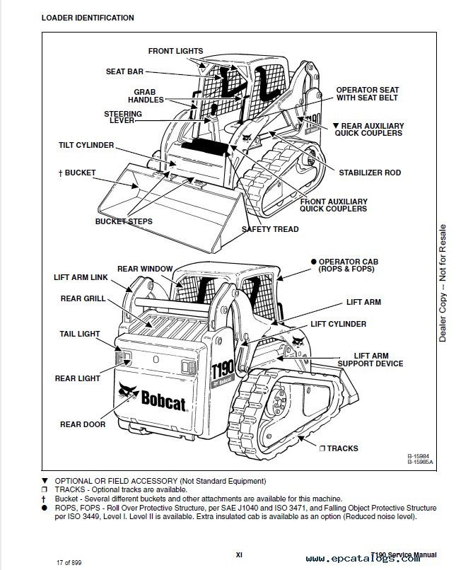 Bobcat       T190    Track Loader Service Manual PDF