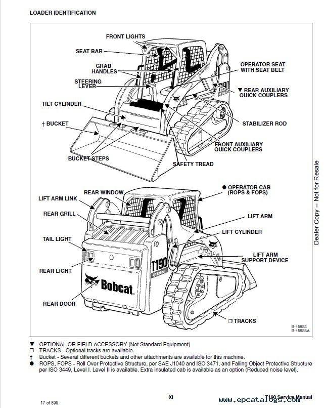Bobcat T190 Track Loader Service Manual Pdf