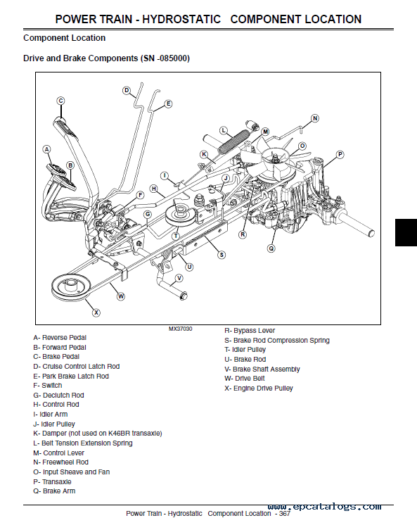 John Deere X300 Select Series Tractors Service Repair Manual Pdf