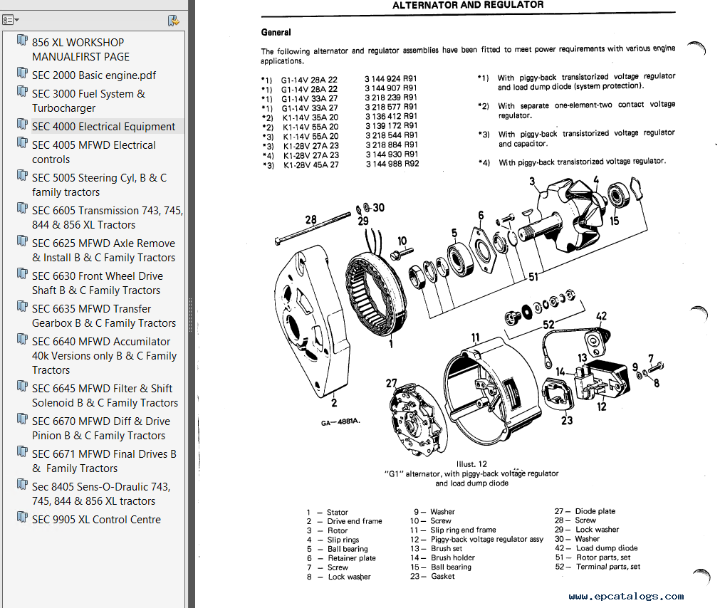 repair manual Case IH 856 XL Tractors Workshop Manual PDF - 3