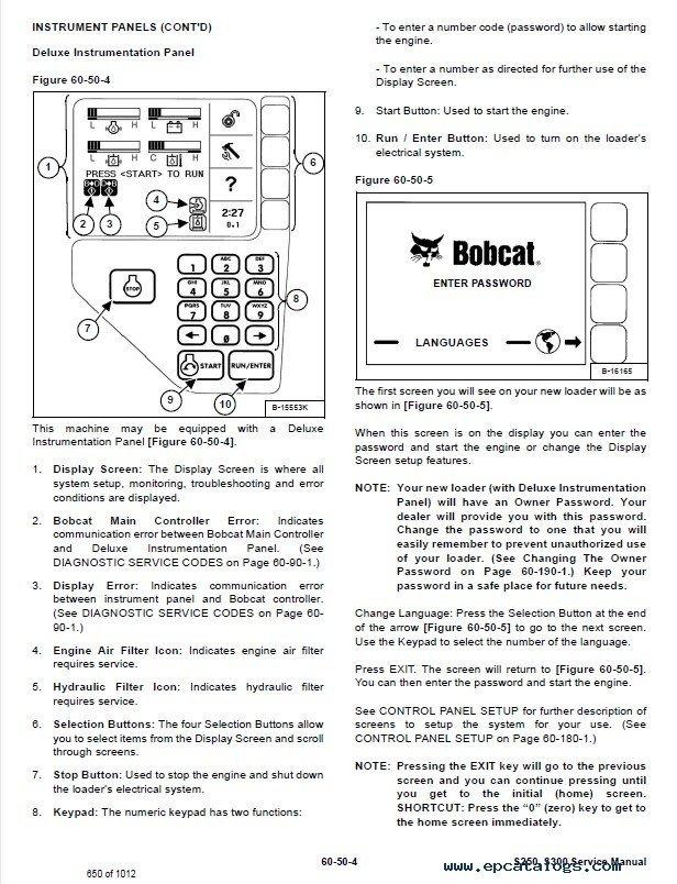 bobcat s250 s300 skid steer loader service manual pdf bobcat s250 service manual 100 images bobcat s250 repair bobcat s250 wiring schematic at honlapkeszites.co