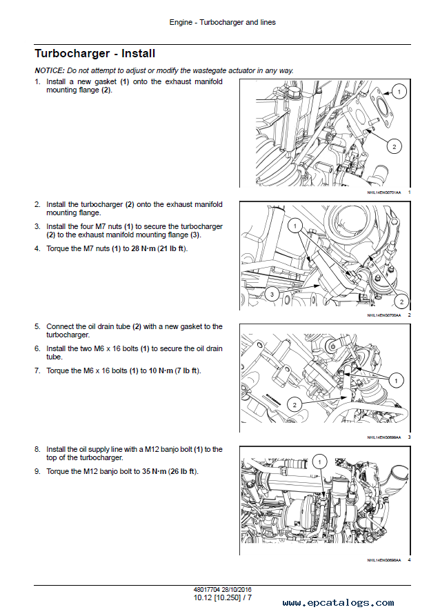 New Holland Tractor Boomer 54D CVT (Tier 4B) Service Manual PDF