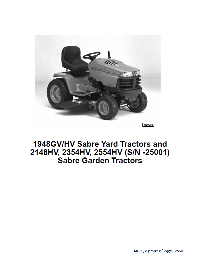 john deere sabre 1948gv hv 2148hv 2354hv 2554hv pdf rh epcatalogs com sabre lawn tractor owner's manual Kama Tractor TS Tires
