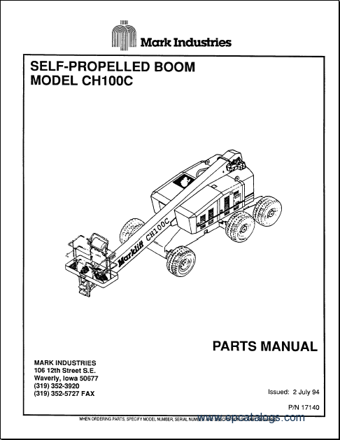 Mark Lift service manual, repair manual, maintenance, operators manualsEPCATALOGS