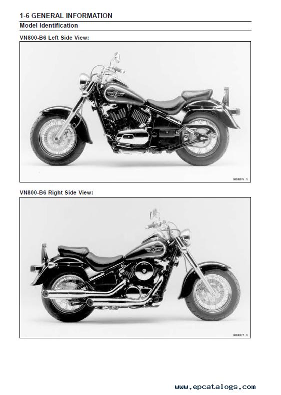 Kawasaki Vulcan800 Vn800 Classic Motorcycle Sm Pdf