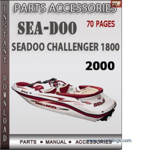 seadoo challenger 1800 2000 spare parts manual download rh epcatalogs com sea doo challenger 180 owners manual seadoo sportster owners manual