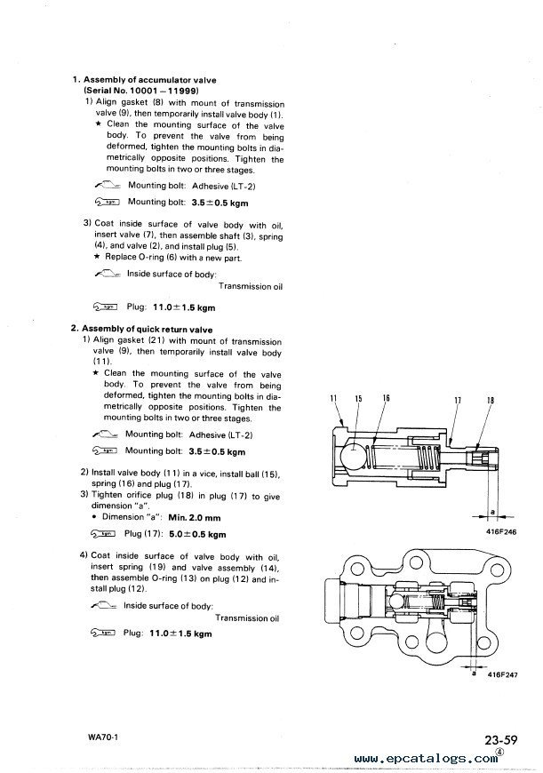 Komatsu WA70-1 Wheel Loader Shop Manual PDF