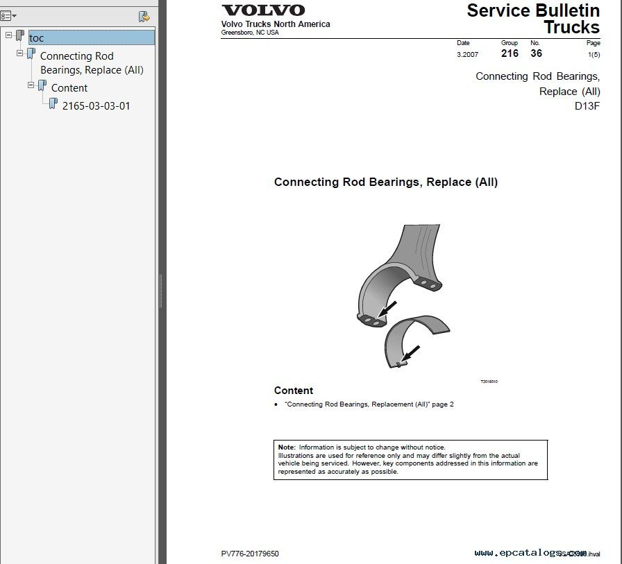 volvo truck operator s manual maintenance and engine pdf rh epcatalogs com volvo d7 service manual Volvo D7E Engine