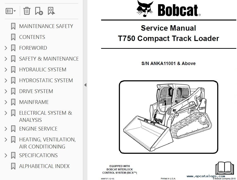 Bobcat T Compact Track Loader Service Manual Pdf on Exhaust Gas Recirculation System