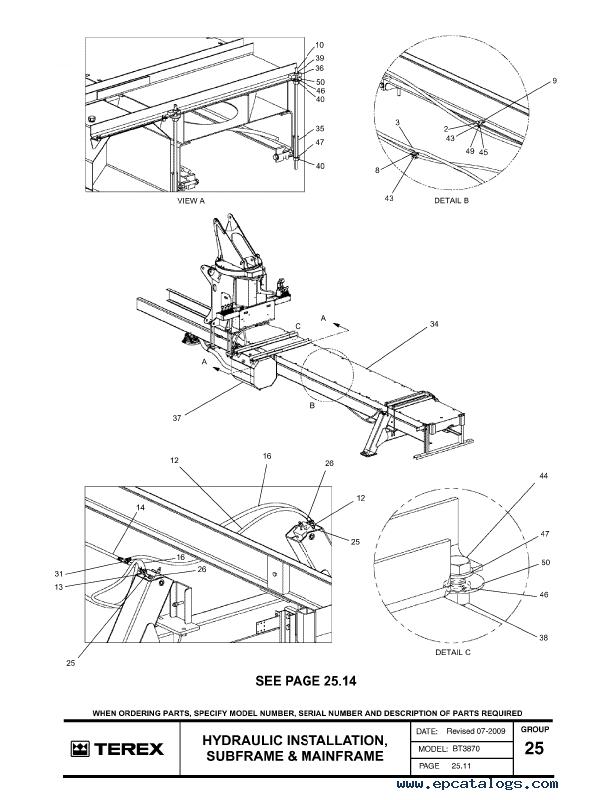 Terex BT3870 Crane Download Parts Manual in PDF formatEPCATALOGS