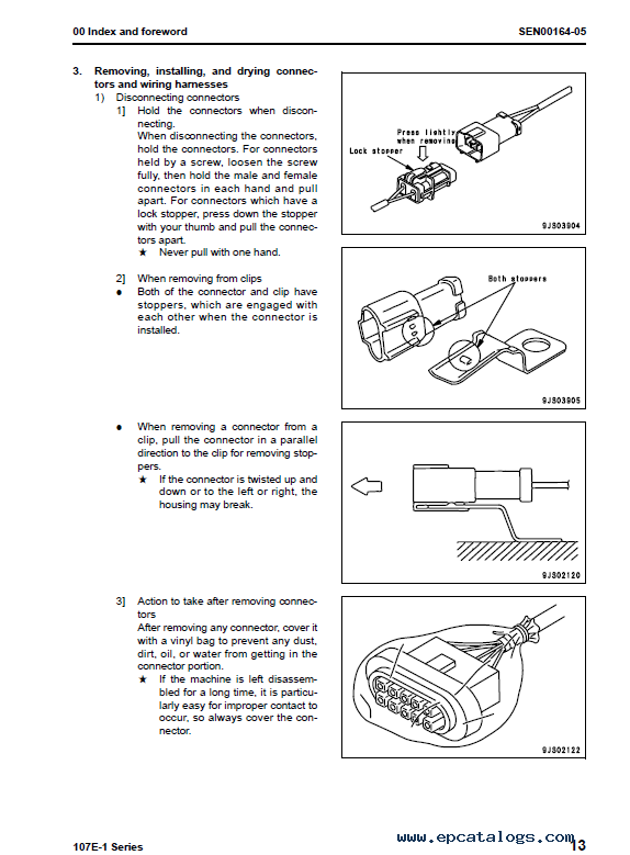 komatsu saa6d107e 1 engine parts manual