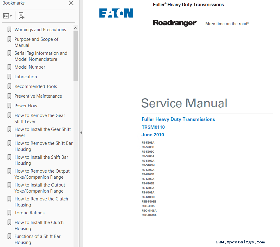 eaton t repair manual