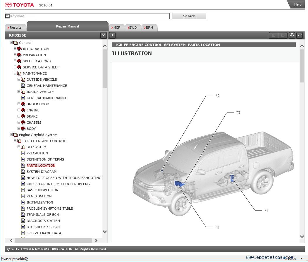 toyota hilux cars service information & diagram  epcatalogs