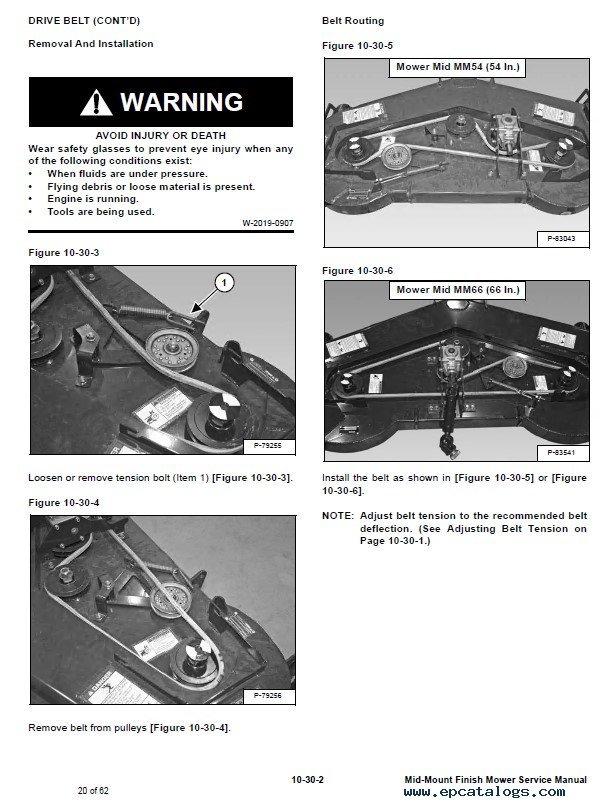 Haban Finishing Mower parts manual on